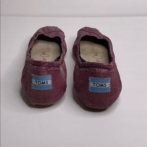 Toms Shoes - Tons one for one pink metallic ballet flats